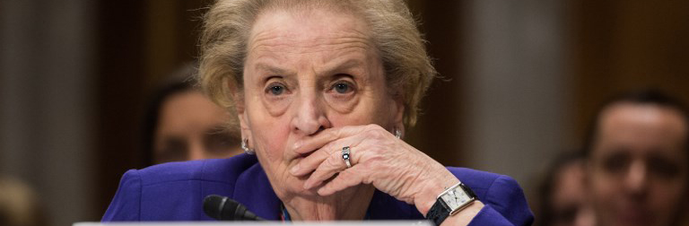 """Senate Foreign Relations Committee hearing on """"The Road Ahead: U.S. Interests, Values, and the American People."""" with former Secretary of State Madeleine Albright; and former National Security Advisor Stephen Hadley."""